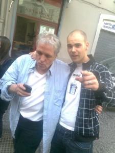 Abel Ferrara con Manuel, studente del nostro master in cinema.