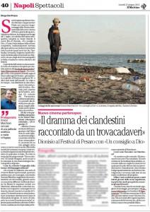 Articolo di Diego Del Pozzo sul Mattino del 25 giugno 2012