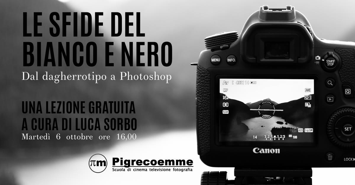 Lezione gratuita sulla fotografia in Bianco e Nero alla Pigrecoemme