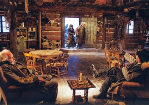 John Ruth e Daisy Domergue giungono alla merceria.