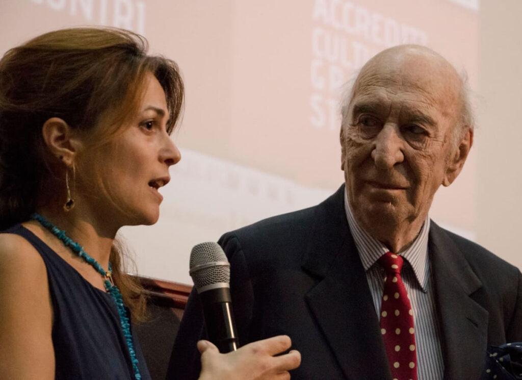 Anna Masecchia con  Giuliano Montaldo