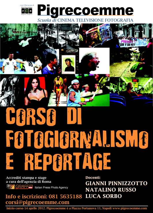 La locandina del corso di fotogiornalismo